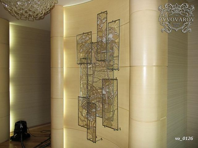 Декоры витражные в стену