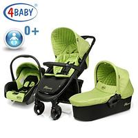 Коляска детская универсальная 3в1 4Baby ATOMIC TRIO Green