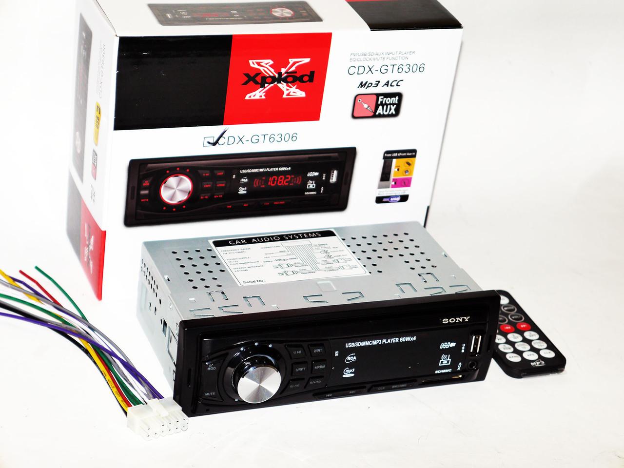Автомагнитола Sony CDX-GT6306 USB+SD+FM+AUX+ пульт (4x50W)