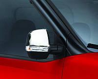 Хром накладки на Fiat Doblo 2010 накладки на зеркала пластиковые