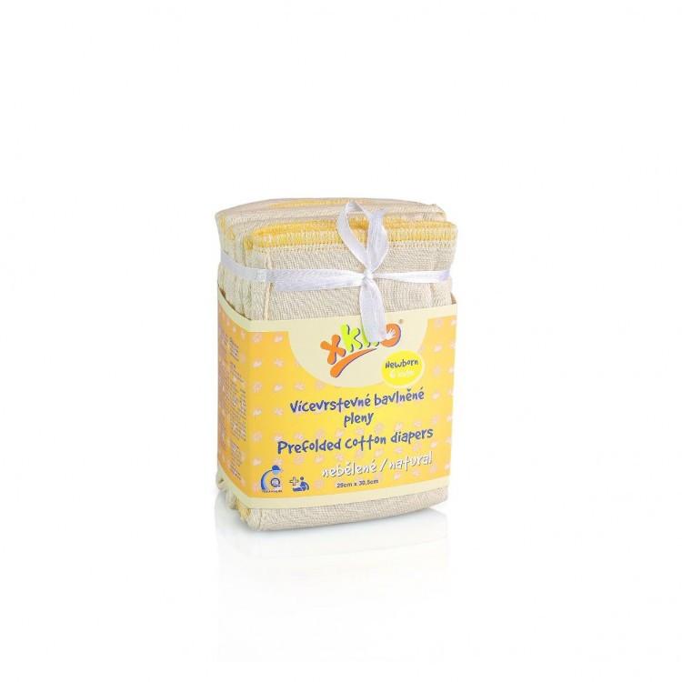 Вкладыши для многоразовых подгузников ХККО Newborn Natural (6шт)