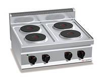 Электрическая плита с 4 конфорками, круглое (10,4 кВт) EHB873E