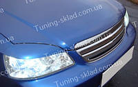 Реснички Шевроле Лачетти седан (накладки на передние фары Chevrolet Lacetti sedan)