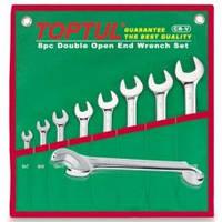 Набор ключей комбинированных (угол 75°)  TOPTUL GAAA0815  8 шт. 8-19 мм (в сумке)