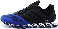 Мужские кроссовки Adidas Springblade синий/черный , адидас спрнгблейд