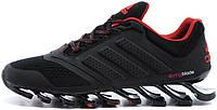 Мужские кроссовки Adidas Springblade черные, адидас спрнгблейд