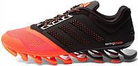 Мужские кроссовки Adidas Springblade черный/коралловый, адидас спрнгблейд