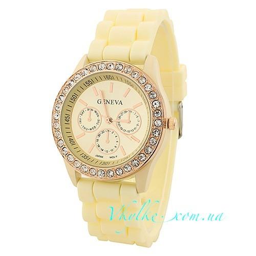 Жіночі годинники Geneva - Diamond молочні