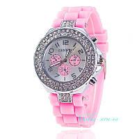 Женские часы Geneva - Double Diamond розовые