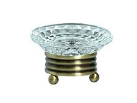 Мыльница KUGU Hestia antique Freestand 960A (латунь, бронза, стекло)(Бесплатная доставка Новой почтой)