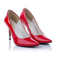 Красные туфли на высоком каблуке ZanZara (изысканные, элегантные, стильные, на оригинальной шпильке, модные)