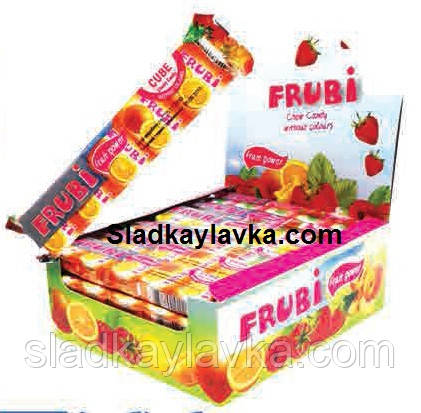 Жевательная конфета Frubi кубик стик 24 шт (Sumi)