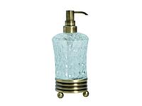 Дозатор для жидкого мыла KUGU Hestia antique Freestand 930A (латунь, бронза, стекло)(Бесплатная доставка  )