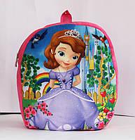 Малиновый рюкзачок для девочки Принцесса.
