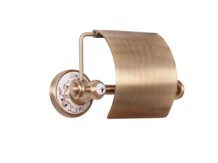 Держатель для туалетной бумаги KUGU Medusa 711A (латунь, бронза/керамика)(Бесплатная доставка  )