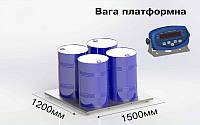 Платформенные весы Аксис 4BDU1500-1215-Б, до 1500 кг,  размер площадки 1250х1500 мм