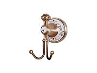 Крючок двойной KUGU Medusa 710A (латунь, бронза, керамика)(Бесплатная доставка  )