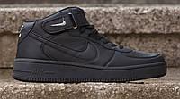 Кроссовки Nike Air Force High ЧЕРНЫЕ, фото 1