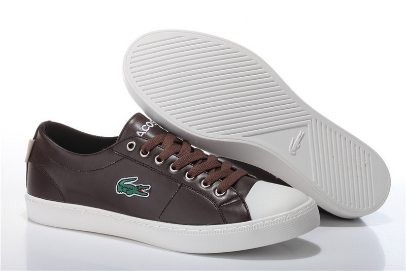 Мужские Кеды Lacoste City Series Brown Leather