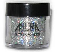 Глиттеры рассыпчатые AsurA cosmetics 01 Silver Rainbow