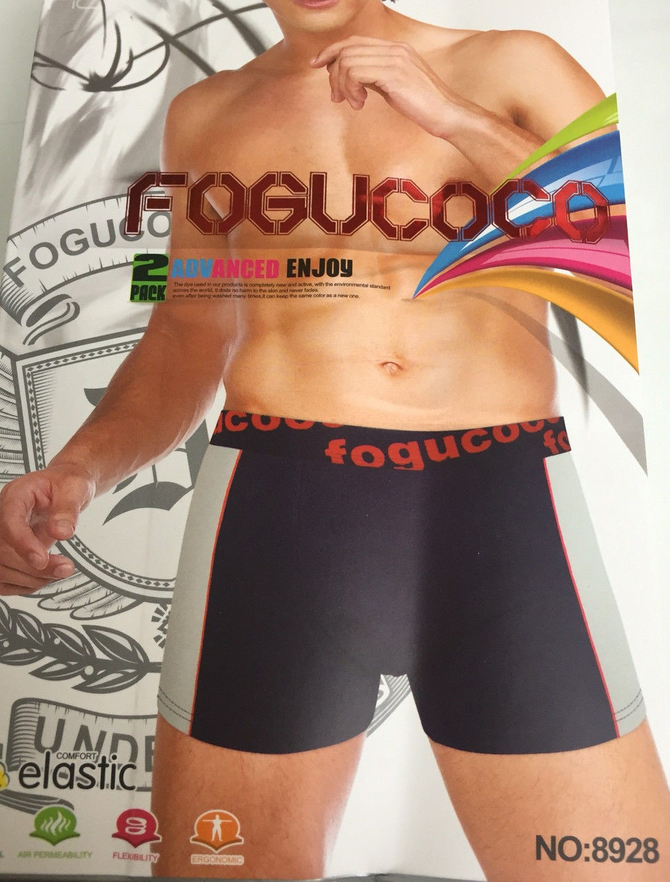 Мужские стрейчевые боксеры «Fogucoco» L-3XL