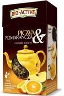 Чай черный листовой Big- Active Pigwa z Pomrancza  с айвой и апельсином 80г