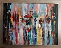 «Цветные краски дождя» картина маслом