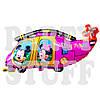 Фигурный шар Минни и Микки Маус вертолет розовый, 44 см