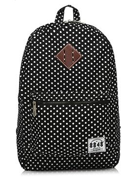 Стильный школьный рюкзак в горошек