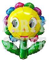 Фольгированный шар Смайл цветок, 87 см