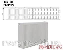 Стальной радиатор Sanica т33 300х600 (1087Вт) - панельный