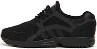 Мужские кроссовки Adidas Racer Lite Triple Black, адидас рейсер