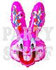 Шар фигурный Бакс Банни розовый, 74 см