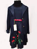 Школьный костюм для девочки с пиджаком и сарафаном   № 1350