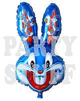 Шар фигурный фольгированный Бакс Банни синий, 74 см
