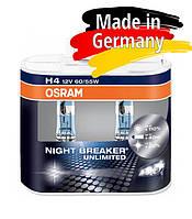 Галогеновая лампа h4 OSRAM Night Breaker Unlimited, +110%