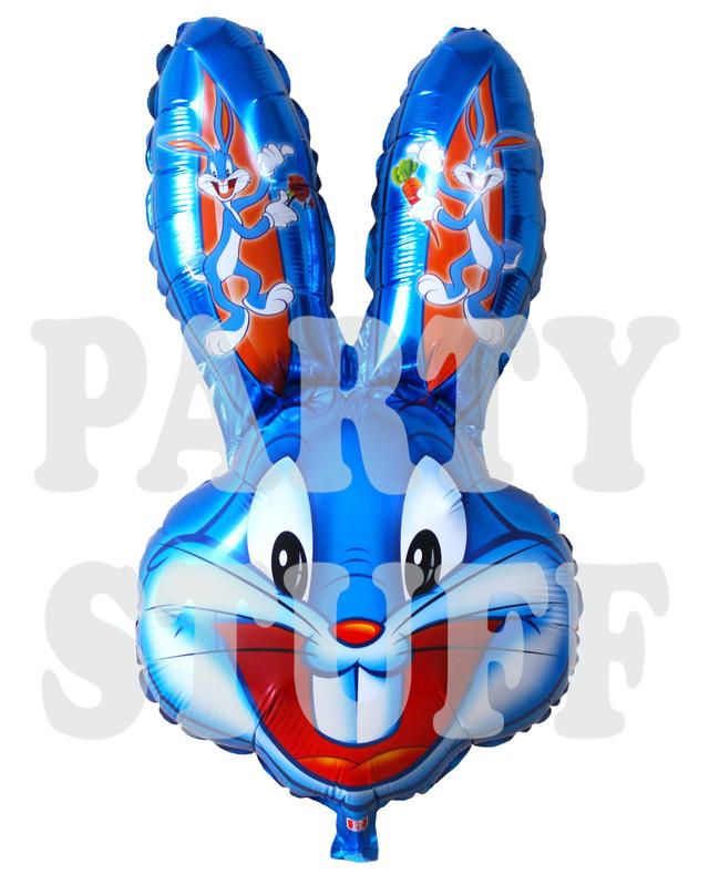 синий фольгированный шар Бакс Банни