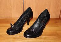 Туфли женские на удобном каблуке модель Т1К14
