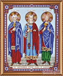 Набор для вышивания бисером икона Святые мученики Гурий, Авив и Самон AB-422