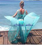 Женская пляжная накидка в пол без рукавов (расцветки), фото 5
