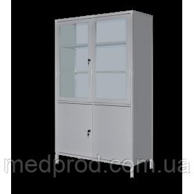 Шкаф медицинский ШМ-2С двухдверный с сейфом