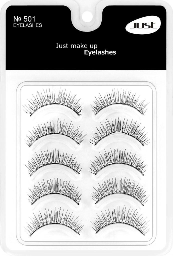 JUST  EyeLashes Set Набор накладных ресниц  № 501