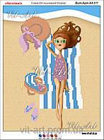 """Схема для вышивки бисером """"На пляже"""""""