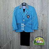 Костюм для мальчика: голубой пиджак и брюки, на выпускной или торжество, фото 3