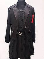 Школьный костюм для девочки черного цвета  № 2340 черного цвета