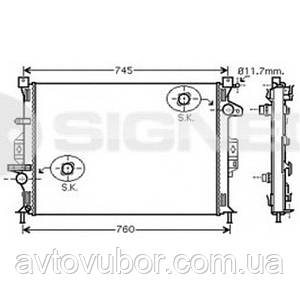 Радиатор основной Ford S-MAX 06-09 RA65615Q 1377541