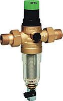 """Промывной фильтр для холодной воды с регулятором давления 1.5-6.0 бар, 1/2"""", 100 мкм, Тmax - 40ºC, РN16"""