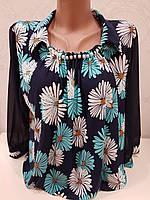 Женская блуза в модный принт ромашка