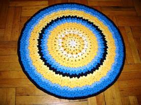Схема круглого солнечного коврика
