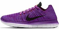 Женские кроссовки Nike Free Run Flyknit (найк фри ран) фиолетовые
